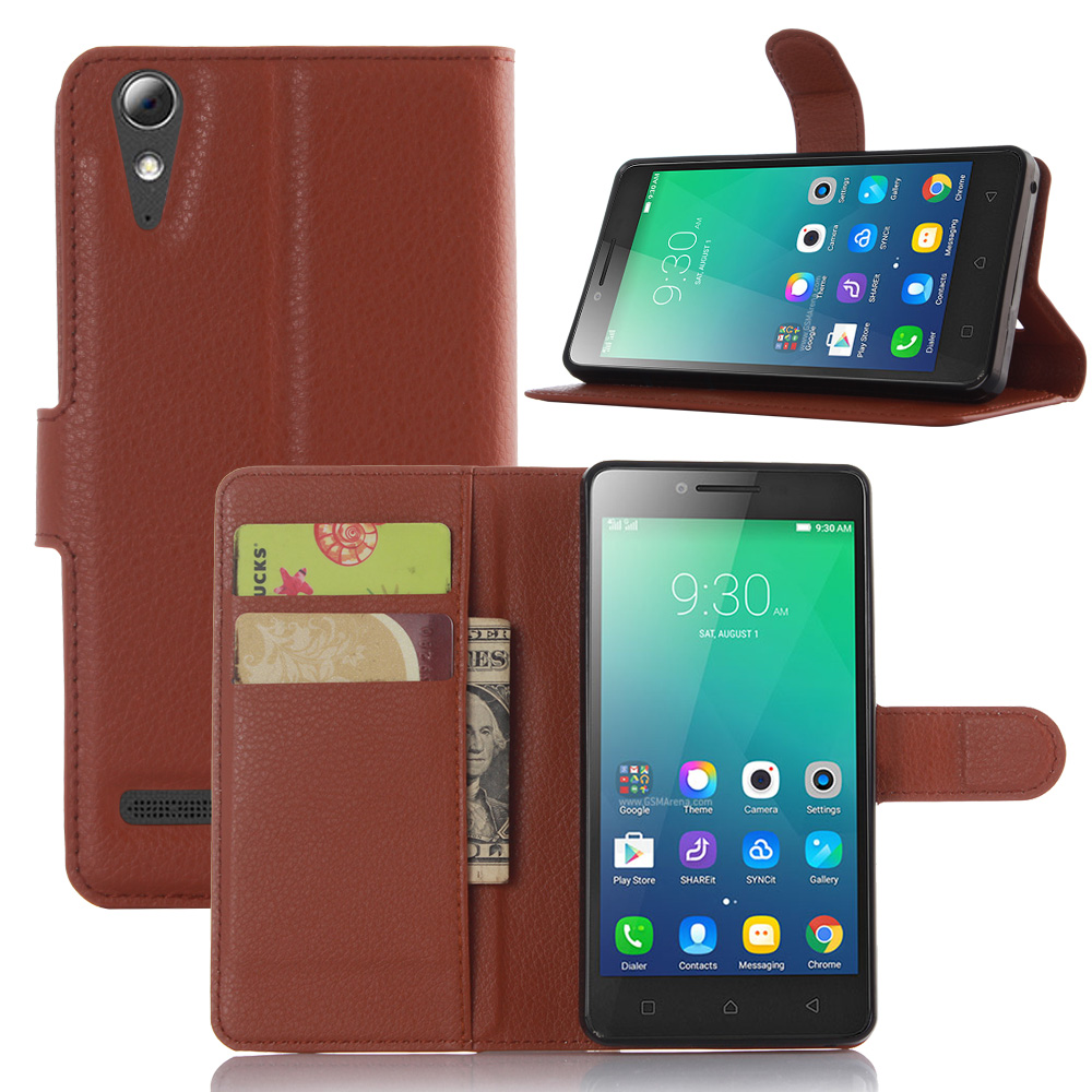 CYBORIS for Lenovo A6010 Case Leather Phone Folio Case for Lenovo A6000 plus Flip Cover Stand Bracket Wallet Bag Card Holder