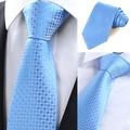 New Casual Slim Men Ties Small Plaid Skinny Neck  Wedding Tie Silk Necktie