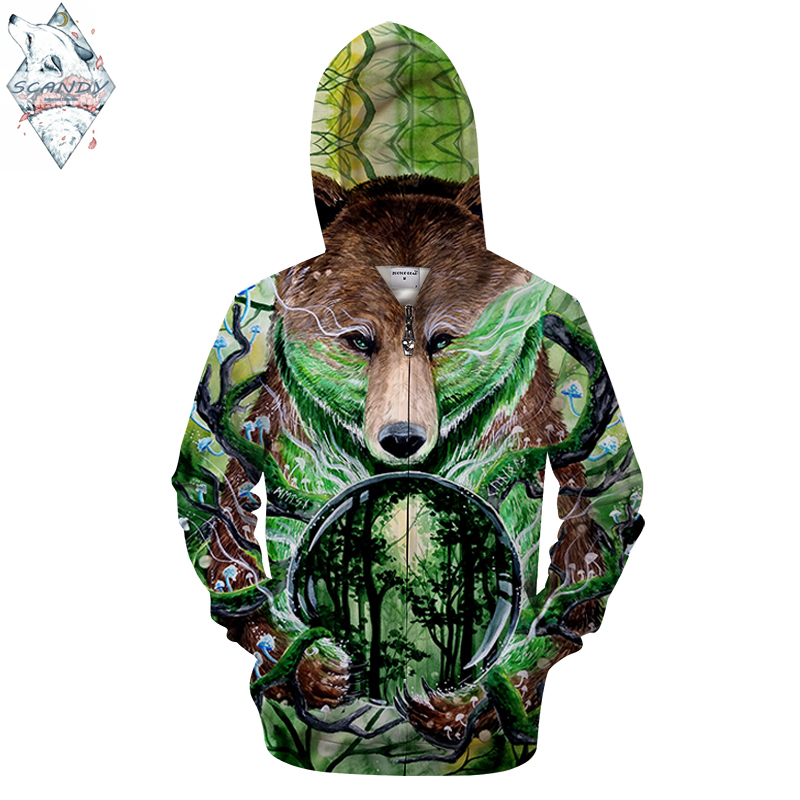 Old king3 By Scandy Girl Art Wolf Print 3D Hoodies Men Women Sweatshirt Brand Tracksuit Pullover Jacket Zipper Hooded Coat DropS