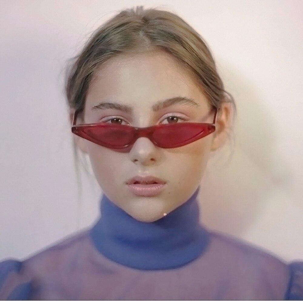 2018 Cat Eye Hot Sunglasses Women Small Eyewear Brand Designer Lady Sun Glasses Cool Trend Goggle UV400 Female cateye Fashion
