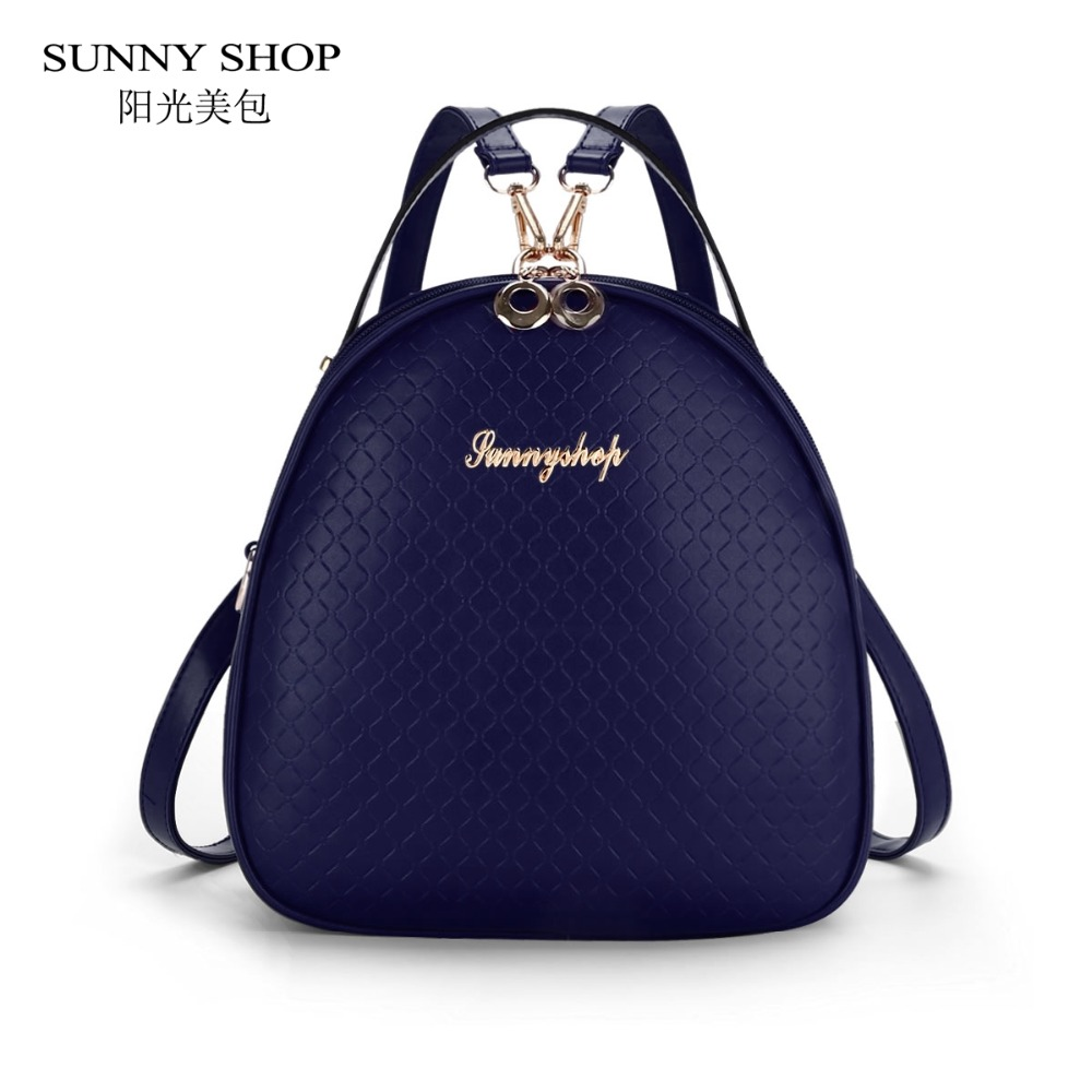 SUNNY SHOP Korean Style School Backpacks Small Preppy School Bags For Teenage Girls Plaid Backpack For