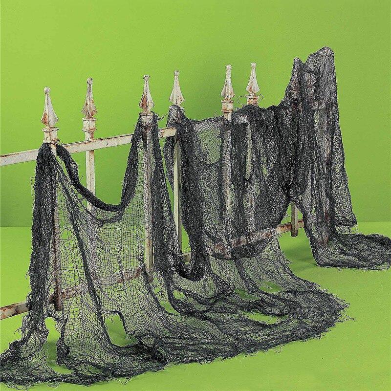 1 pcs halloween decoration gauze sheer gauze element yarn roll black and white atmosphere rendering party - Cheap Halloween Decoration
