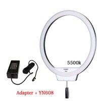 YONGNUO yn608 5500 К кольцевой 608 светодиодной вспышке Selfie Studio кольцо свет лампы Беспроводной удаленного LED кольцо видео cri> 95 + AC Адаптеры питания
