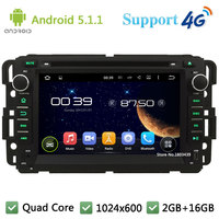 7 HD 1024 600 Quad Core Android 5 1 Car DVD Player Radio Stereo For GMC