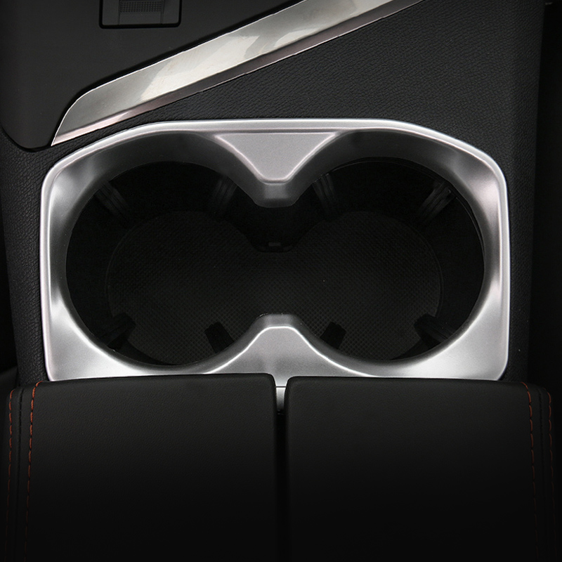 Matte Chrome Cup Holder Surrounds For Mazda CX-5 2017 Interior Trim Accessories