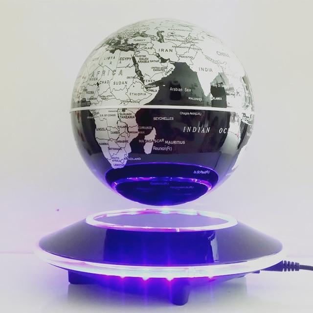 globe noir 6 pouces support plat led