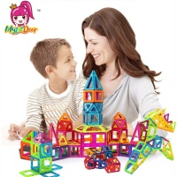 184pcs 110pcs Magnetic Building Kids Magnetic Toys Construction Building Tiles Blocks for Children Creativity Educational Toy