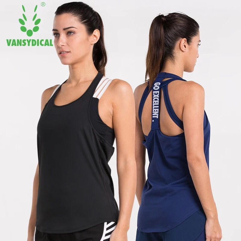 Home Provided Female Sports Vest Dry Quick Anti-shrink Loose Gym V-neck Tank Tops Fitness Sport Sleeveless Vest Running Yoga Tops