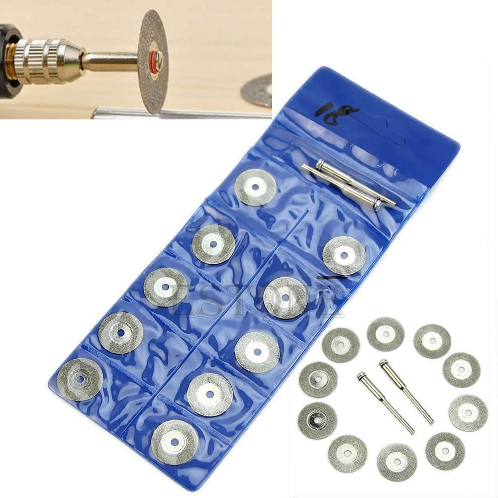 10pcs New Rotary Tool Circular Saw Blades Cutting Discs Mandrel Dremel Cutoff