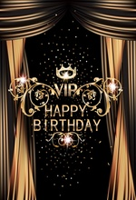 Laeacco Curtain Crown Light Bokeh Happy Birthday Photography Backgrounds Customized Photographic Backdrops For Photo Studio