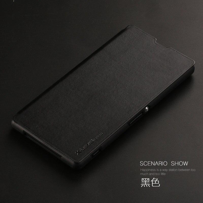Nuevo lujo PU Funda de cuero para Sony Xperia Z1 L39h Flip para Sony Xperia Z1 Honami C6902 C6903 c6906 C6943 caso