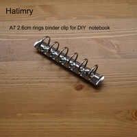 Hatimry A7 große ringe 2,5 cm ringe clip notebook clip 6 löcher splitter farbe für DIY notebook A7 größe binder clip schule lieferanten