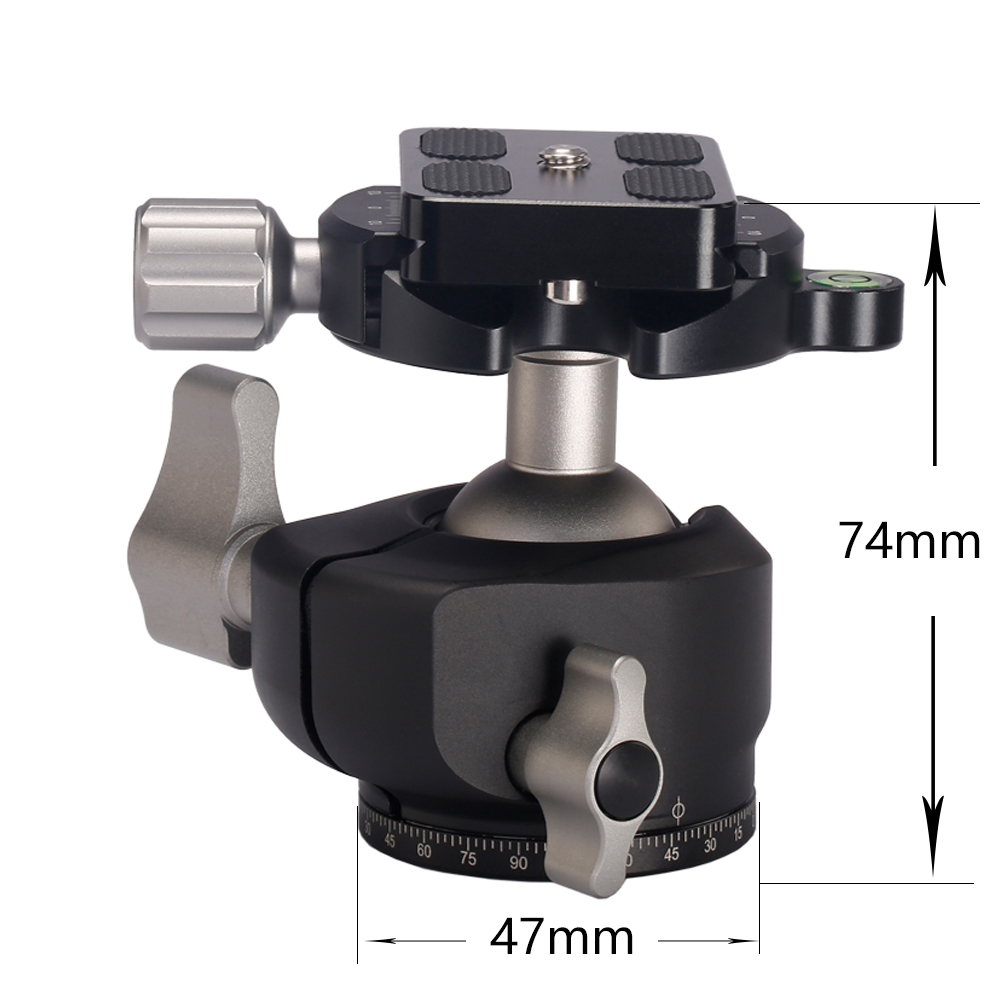 bilder für Aluminiumlegierung Stativ Kamera Kugelkopf Panorama Gleitschiene Kopf als RRS Kugelkopf