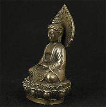 NICE CHINESE OLD Tibet Buddhism bronze four hands Arm Kwan-Yin Guan Yin Bodhisattva Buddha Statue Garden Decoration Brass Bronze