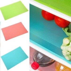 Коврики для холодильника 4 шт./компл. водонепроницаемый столовый коврик из ЭВА противообрастающая влага плесени кухонная салфетка-подставк...