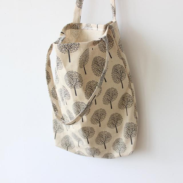 Women's Floral Printed Canvas Shoulder Bag