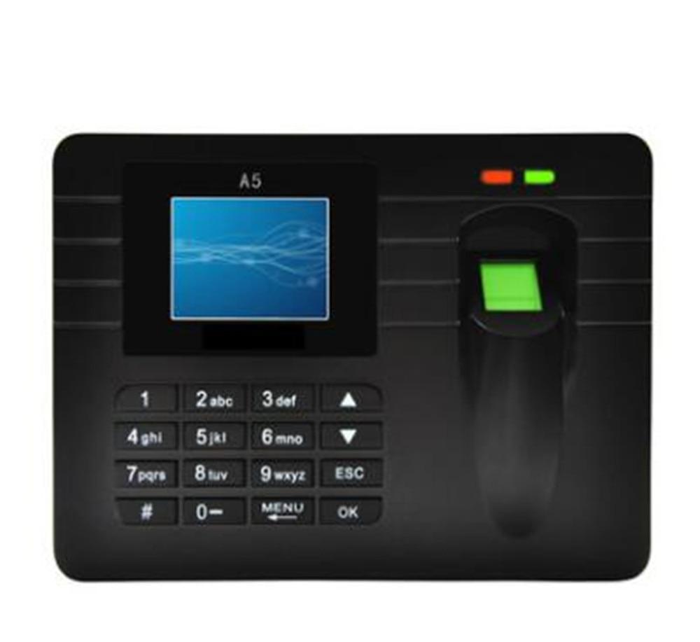 Lecteur gratuit 2.4 pouces TFT empreinte digitale horloge enregistreur présence Machine d'accès