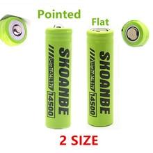 2pcs/lot 14500 rechargeable battery li ion Batteries led lampe de poche Batterie Mouse