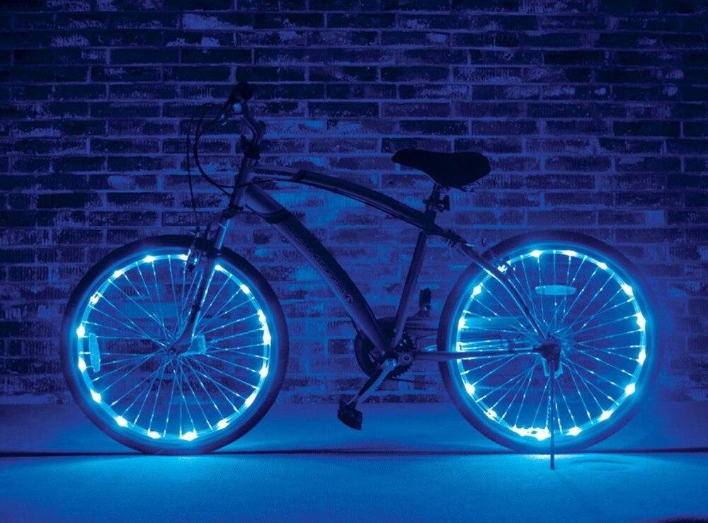 Licht Voor Fiets : Stuks wiel staaldraad led licht fiets wiel brightz waterproof
