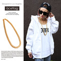 All Popular  Yellow Gold Plated Men Cuban Chain Necklace African Classic Hip Hop Dance jewelry