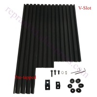Free Fast shipping, Pre tapped Black V Slot AM8 3D Printer Aluminum Extrusion Metal Frame Full Kit for Anet A8 upgrade
