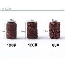 100Pcs/Set Nail Sanding Ring Grinding Head Polisher Essentia