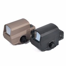 LCO Estilo Red & Green Dot Sight 1 MOA holográfica visando Dot Âmbito 1x Caça Scopes Fit 20mm Tecelão Picatinny ferroviário(China)