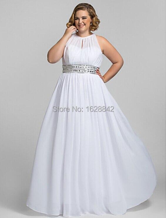 Plus size evening dress white long evening dresses vestido de ...