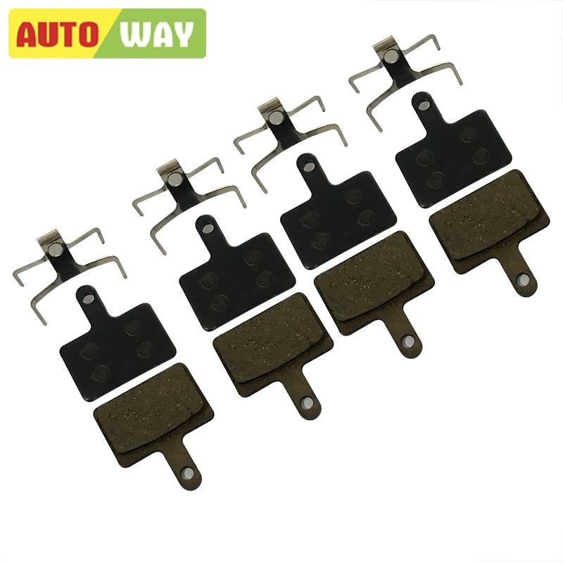4 paare / los autoway mtb scheibenfahrrad bremsbeläge für shimano deore m375 m395 m415 m446 m465 m485 m486 m525 m515, semi-metallic