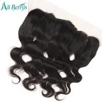 Ali Berrys Hair Body Wave Lace Frontal Closure Ear To Ear 13x4 Closure Brazilian Human Hair