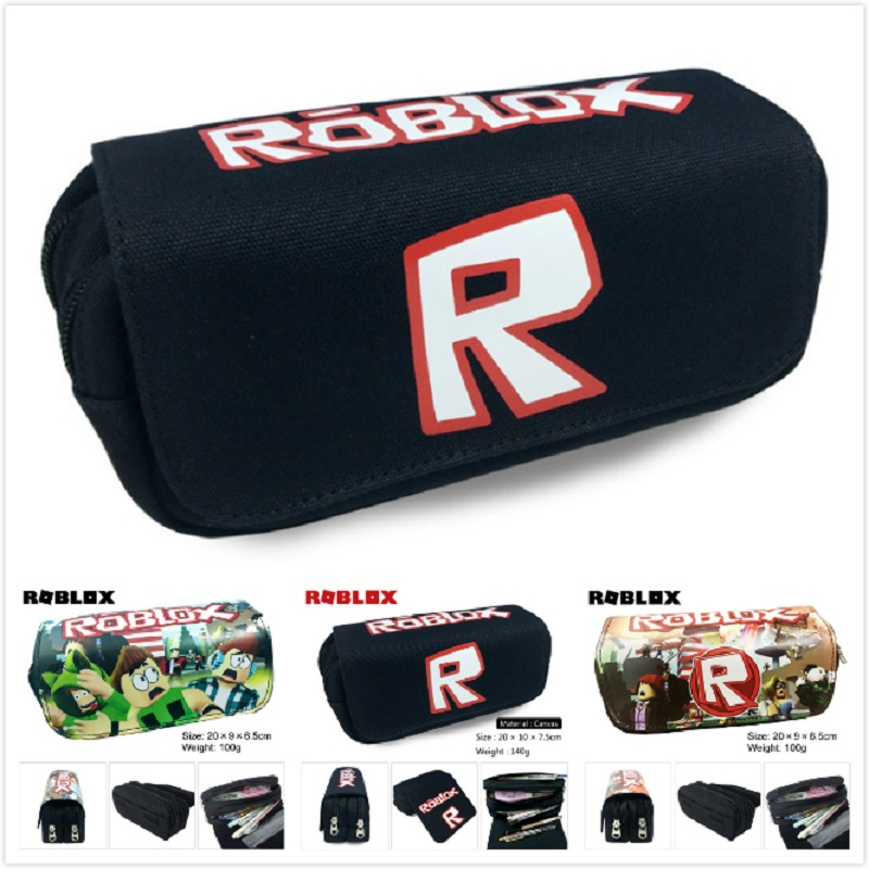 US $6 78 |3 Styles Game Roblox Pencil Bag Canvas Pen Case Pencilcase Kids  Student Stationery Action Figure Toy Kid Christmas Birthday Gift-in Action  &
