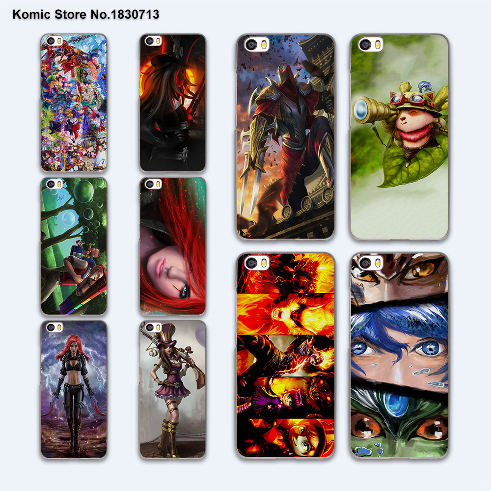 cute skin league of legends lol art hard clear phone case cover for xiaomi mi 5