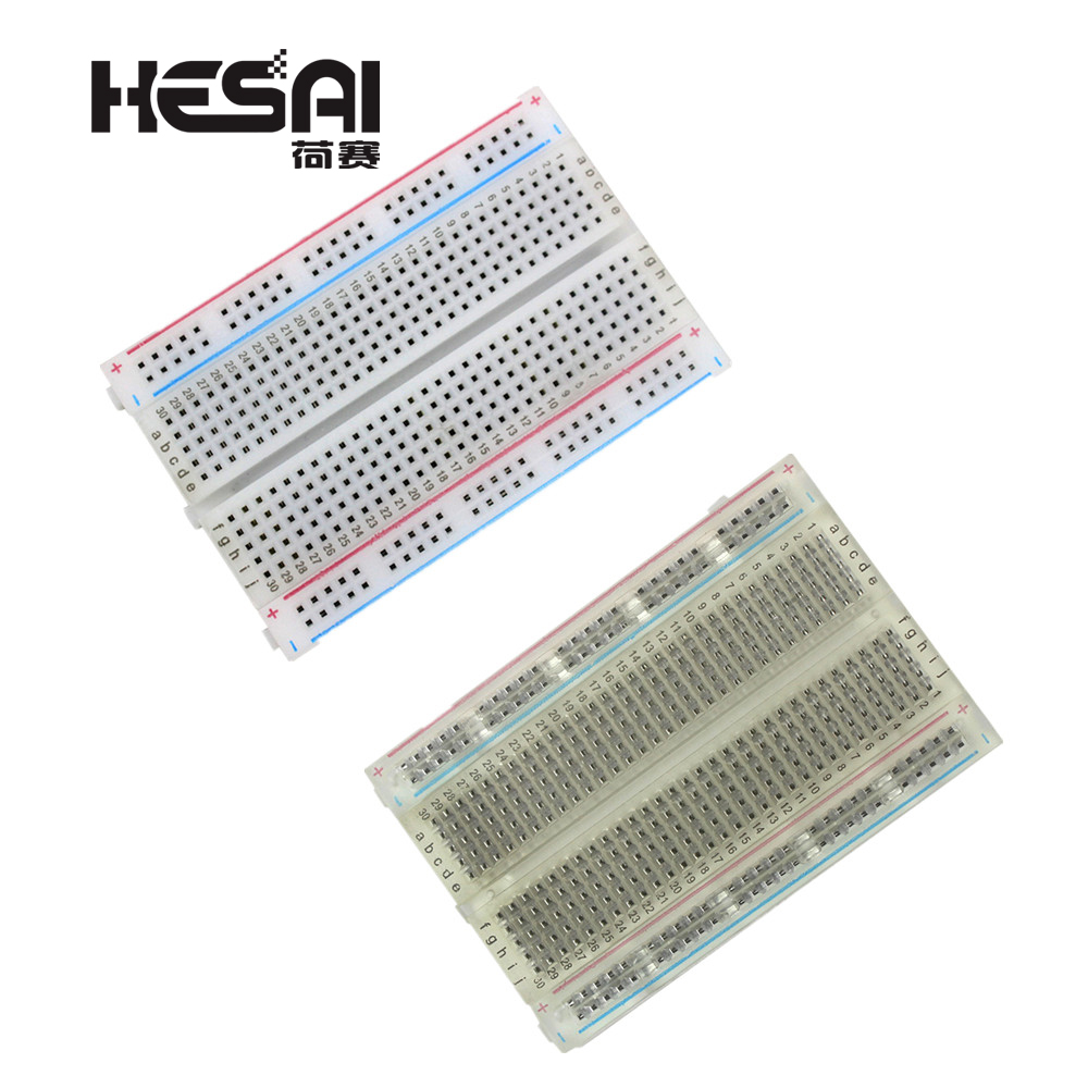 Mini Bread Board/Breadboard 8.5cm x 5.5cm 400 Holes Transparent/White DIY Electronic Experimental Universal PCB