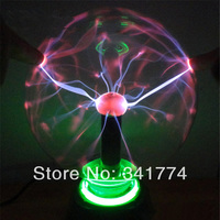 Novelty Items LED Magic Plasma Crystal Ball Lightning Lamp Induction Night Lights Gift For Kids Home