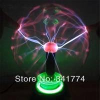 Novelty Items LED Magic Plasma Crystal Ball Lightning Lamp Induction Night Lights Gift For Kids Home