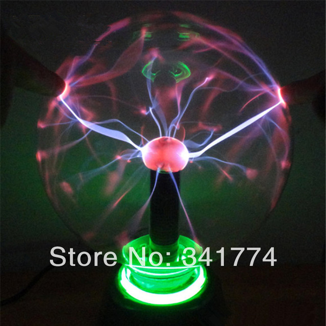 Novelty Household LED Magic Plasma Crystal Ball Lightning Lamp Night Lights  Gift For Kids Home Party