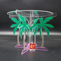 Tropical Palmtree Acrylic cake stand 30cm wedding cupcake tools fondant cake display accessory birthday party supplies