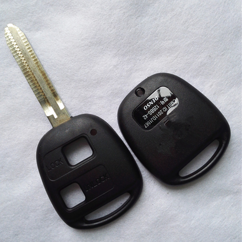 DAKATU 2/3 Button Remote Car Key Shell With TOY43 Blade For Toyota Camry RAV4LAND CRUISER PRADO Remote Shell with LOGO