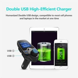 Image 4 - Car Bluetooth Wireless Mp3 Player Handsfree Car Kit FM Transmitter 5V 2.1A USB Charger LCD Display Car FM Modulator