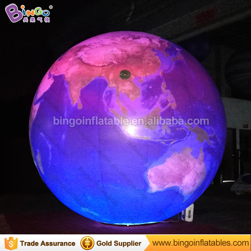 3M dia LED lighting inflatable Earth balloon high quality customized blow up balloon type Earth replica