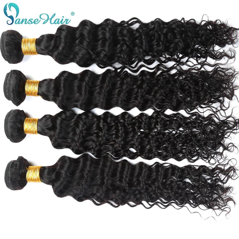 Panse Hair Deep Wave 4 Πακέτα ανά παρτίδα - Ανθρώπινα μαλλιά (για μαύρο) - Φωτογραφία 4