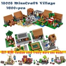 1673 unids 18008 kits de edificio Modelo compatible con lego 21128 mis mundos Pueblo 3D ladrillos MineCraft juguetes aficiones para niños