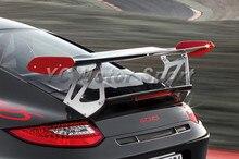 Автомобильные аксессуары FRP волокна Стекло GT4 Стиль спойлер багажника с базой подходит для 2005-2011 Carrera 911 997 сзади GT Крыло