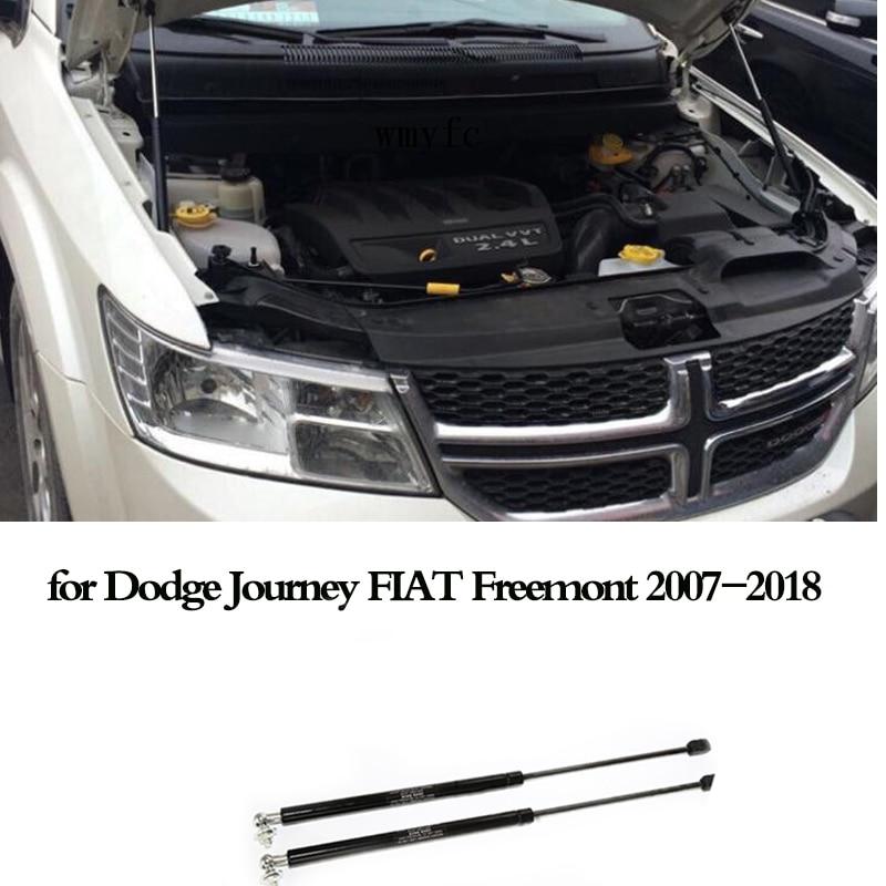 2Pcs Car Gas Shock Hood Strut Damper Front Engine Hood Support Rod Lift for Dodge Journey FIAT Freemont 2007-2018 accessories