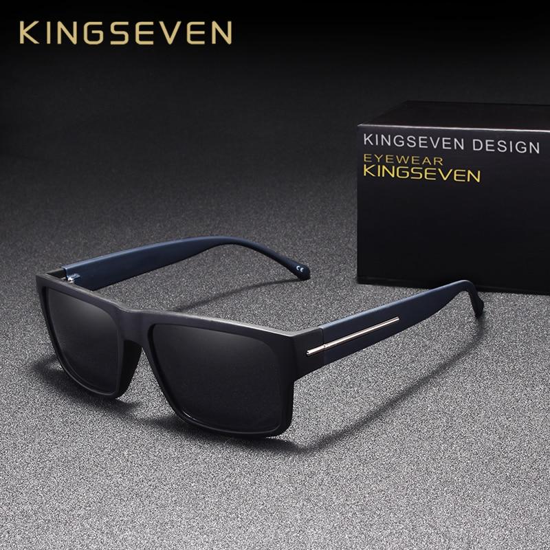KINGSEVEN Novos Óculos Polarizados Para Homens Óculos de Sol Tons Quadrados  Masculinos Condução Espelho Cor de 353b5b86e1