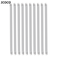 ICOCO 10pcs/set High Quality 1.2m T8 85V 265V Clear Lens LED Tube Light Energy Save Tube Promotion Sale Wholesale Drop Shipping