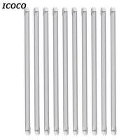 Icoco 10ピース/セット高品質1.2メートルt8 85ボルトの265ボルトクリアレンズledチューブライトエネルギーを節約チューブプロモーション販売卸売ドロップ配