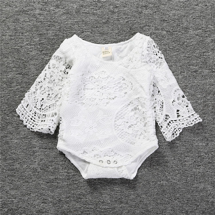 63f438025 2017 new hot summer solid baby girls novelty lace bat flare sleeves  bodysuit baby onesie white-in Bodysuits from Mother & Kids on  Aliexpress.com | Alibaba ...