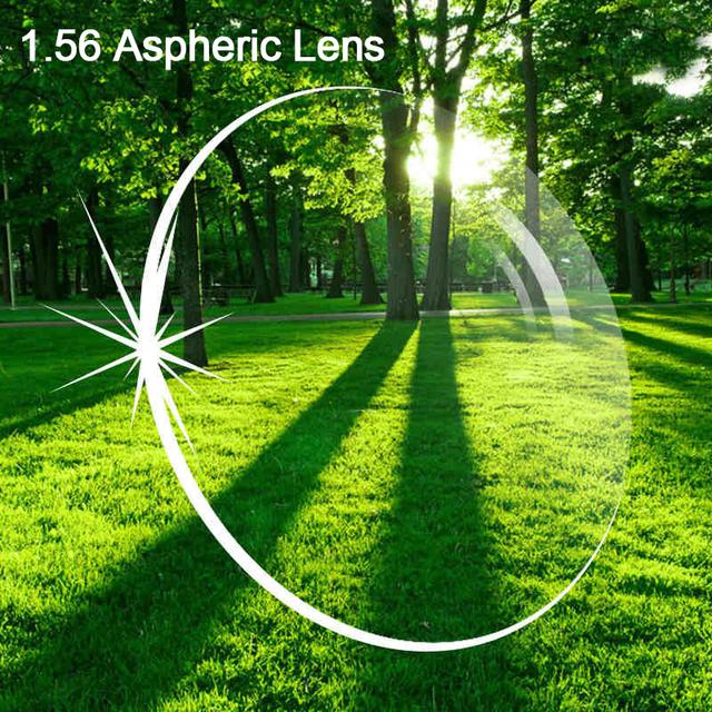 Frete serviço de enchimento prescrição 1.56 Lente Asperic anti scratch revestimento de proteção de radiação miopia óptico de lentes de resina 003
