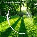 Libre prescripción de llenado de servicio 1.56 Lente Asperic rasguño anti radiación protección de recubrimiento de resina miopía lente óptica 003